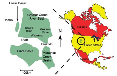 Green River Formation Map