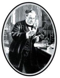 Louis Pasteur in the lab