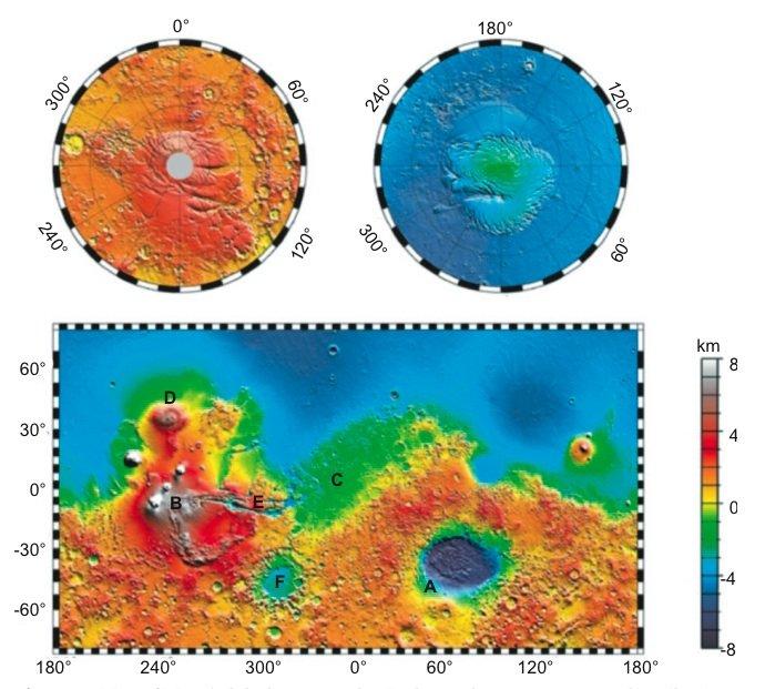 Mars global topography